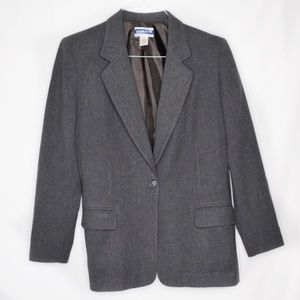 Pendleton Gray Wool Button Blazer 10